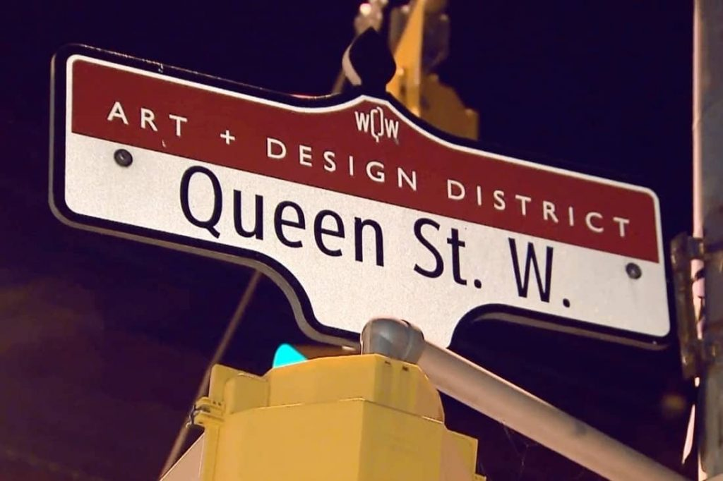 West Queen West Bia sign